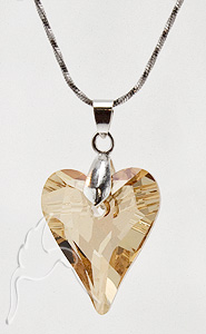 Swarovski Wild Heart Necklace - Golden Shadow