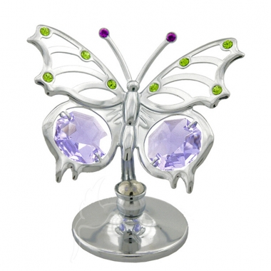 Crystocraft Mini Angelwing Butterfly - Silver