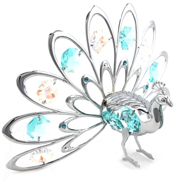 Crystocraft Peacock - Fantail - Silver