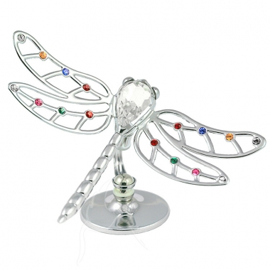 Crystocraft Dragonfly - Silver