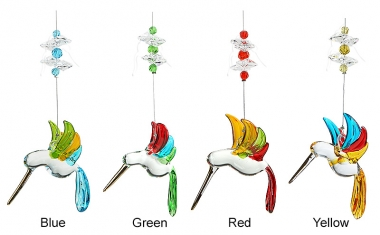 Rainbow Hummingbird - set of 24 incl. FREE STAND