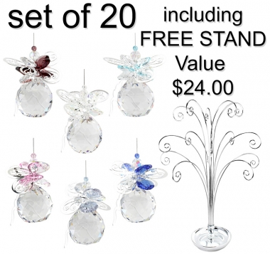 Butterfly Sphere - set of 20 incl. FREE STAND