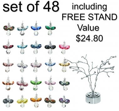 Little Flying Angel - set of 48 incl. FREE STAND