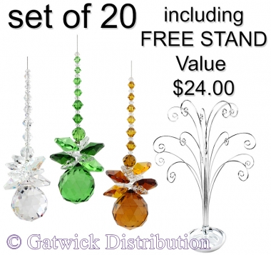 Sphere Sparkle - set of 20 incl. FREE STAND