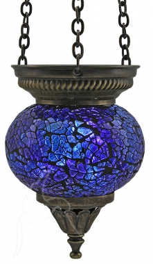 SPECIAL - Turkish Mosaic Hanging Tealight - Small - Blue