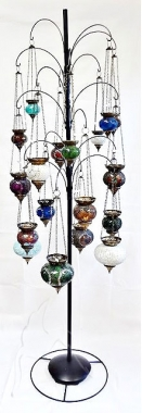 Mosaic Lamps Display Tree