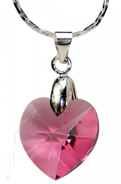 Swarovski Necklace - Small Heart - RO