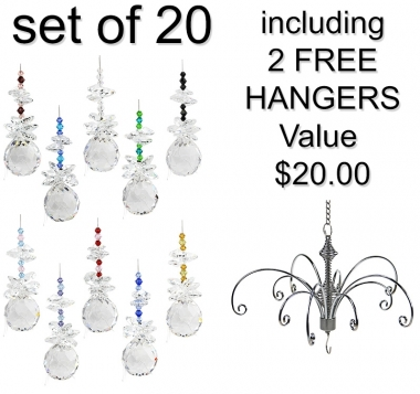 Sphere - set of 20 incl. 2x FREE HANGERS