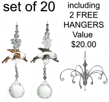 Dolphin Charm - set of 20 incl. 2x FREE HANGERS