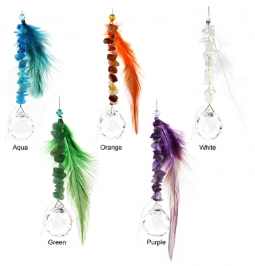 Feather Charm - set of 20 incl. 2x FREE HANGERS