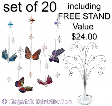 Tropical Butterfly - set of 20 incl. FREE STAND
