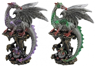 Dragon on Rock - set of 2