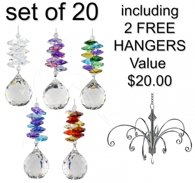 Enchanted Sphere - set of 20 incl. 2x FREE HANGERS