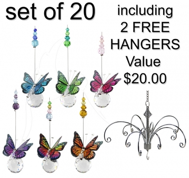 Mini Butterfly Sphere - set of 20 incl. 2x FREE Hangers