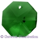 Star Crystals Octagons - 14mm 1 hole - MGR - Tray of 50