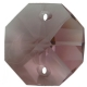 Star Crystals Octagons - 14mm 2 holes - LAM - Tray of 50
