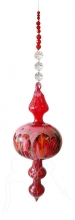 Painted Bubble - Shape 516 - Red - beaded