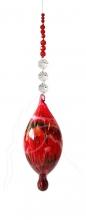 Painted Bubble - Shape 523 - Red - beaded