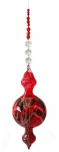Painted Bubble - Shape 525 - Red - beaded