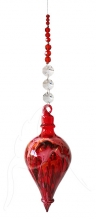 Painted Bubble - Shape 529 - Red - beaded