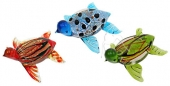 Dichroic Glass Turtles - set of 3