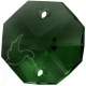 Star Crystals Octagons - 14mm 2 holes - MGR - Tray of 50