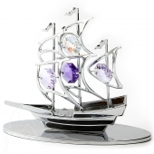 Crystocraft Sailboat - Silver