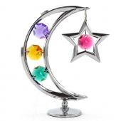Crystocraft Moon & Star - Silver