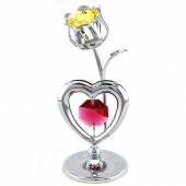 Crystocraft Heart & Tulip - Silver