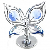 SPECIAL - Crystocraft Ulysses Butterfly - Silver