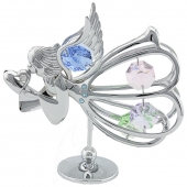 Crystocraft Graceful Angel with Heart - Silver