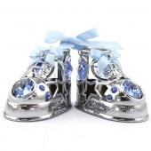 Crystocraft Baby Shoes - Blue