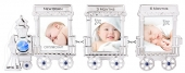 Crystocraft Photo Frame - Baby Train Engine & Carriages - Blue