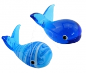 Marble & Glass Whales - set of 6