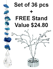 Gem Charm - set of 36 incl. FREE ROTATING STAND