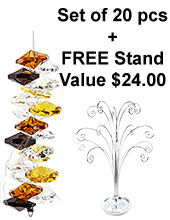 Cascade - set of 20 incl. FREE STAND