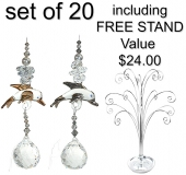 Dolphin Charm - set of 20 incl. FREE STAND