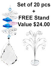 Mini Starburst - set of 20 incl. FREE STAND