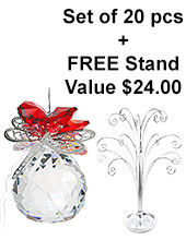 Dragonfly Sphere - set of 20 incl. FREE STAND
