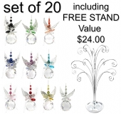 Pearled Butterfly Spheres - set of 20 incl. FREE stand