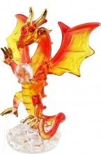 SPECIAL - Small Dragon with Crystal Ball - Orange