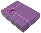 SPECIALS - Gift/Jewellery Box - 8 x 11cm - Purple - set of 12