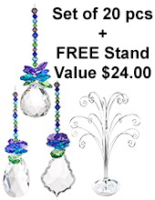 Tropical - set of 20 incl. FREE STAND