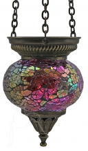 Turkish Mosaic Hanging Tealight - Small - Fuchsia