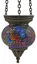 SPECIAL - Turkish Mosaic Hanging Tealight - Small - Rainbow