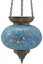 SPECIAL - Turkish Mosaic Hanging Tealight - Large - Turquoise
