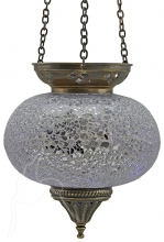 Turkish Mosaic Hanging Tealight - Large - Silver