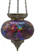 SPECIAL - Turkish Mosaic Hanging Tealight - Large - Rainbow