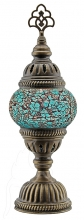 Turkish Mosaic Bedside or Table Lamp - Small - Turquoise