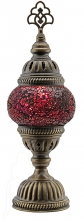 SPECIAL - Turkish Mosaic Bedside or Table Lamp - Small - Fuchsia